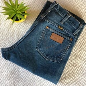 Vintage Wrangle High Waisted Jeans With Patch